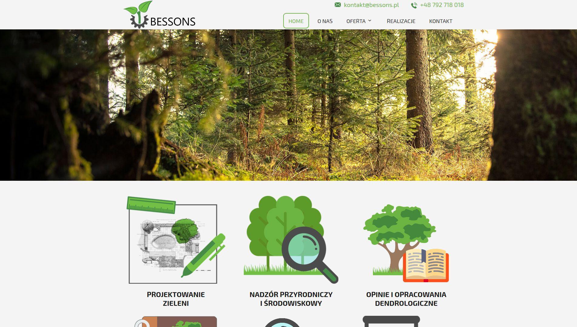 Strona internetowa Bessons